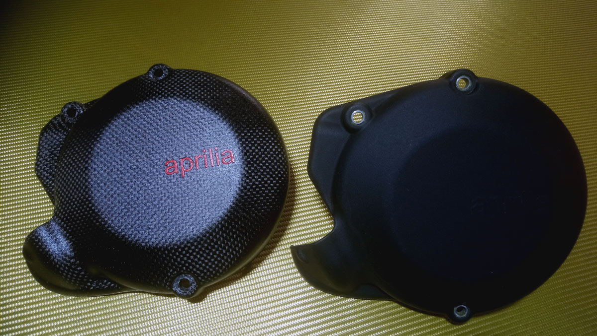 Alternator Cover Carbon  vs Original plastic