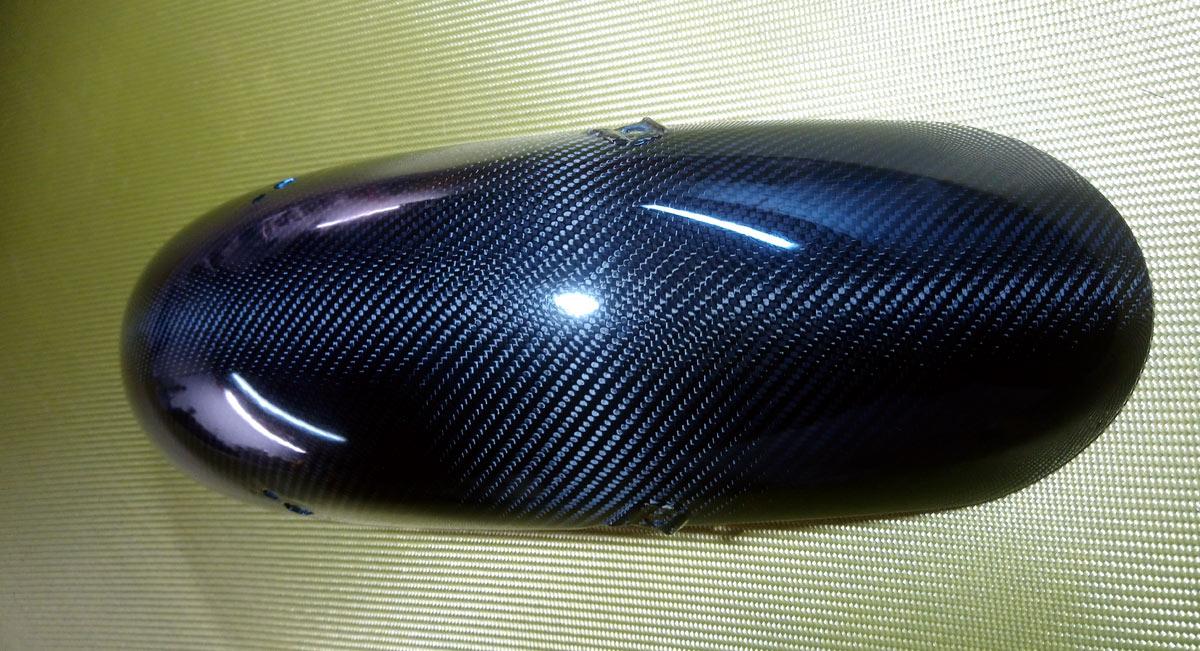 Truxthon Front mudguard carbon sergé 2x2 twill