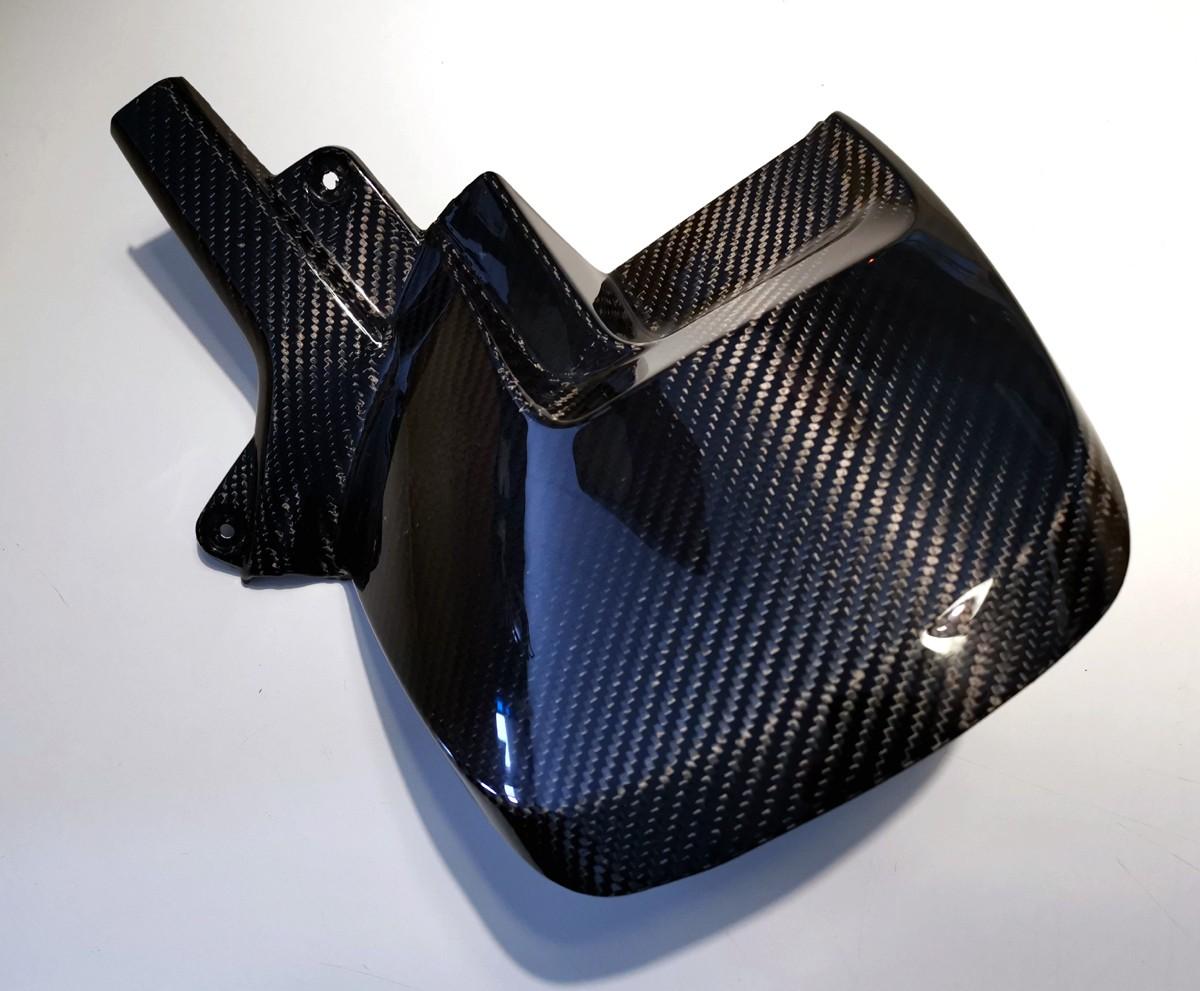 Garde boue arrière carbone Sergé 2x2 Twill